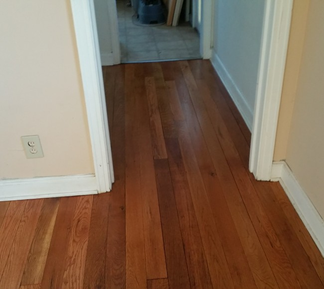 Red Oak With Golden Pecan Stain And 2 Coats Of Natural